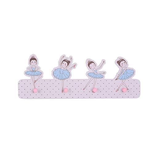 Creativa Diseño del Multiusos Bailarina de madera Perchero Gancho de suspensión creativo Accesorios para la decoración del hogar Ganchos de pared Soporte Percha Perchero Decoración de la pared