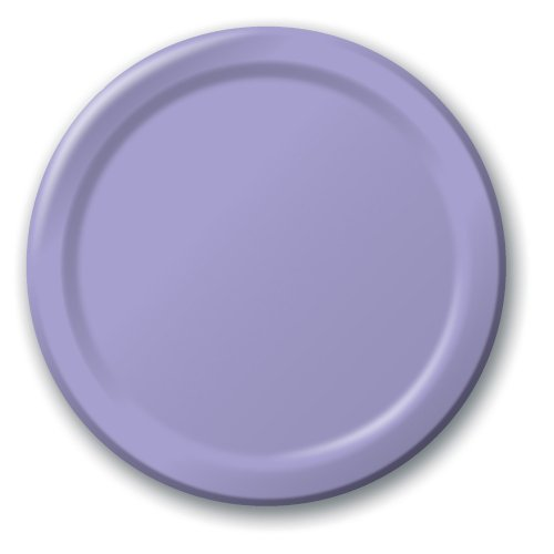 Creative Converting Touch of Color 24 Count Paper Banquet Plates, Luscious Lavender
