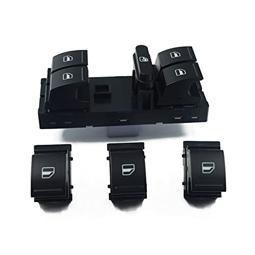 XIAOPENG Tucki Conjunto de interruptores de Ventana FIT para Volkswagen VW Jetta Golf 5 6 TURANO TIGUAN Caddy Passat B6 B7 CC Seat Polo ALHARMBRA