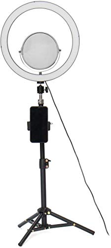 ZouYongKang Ring Selfie LED Light with Tripod Stand Selfie Light with Phone Holder Ring Dimmable Circle Light for Live Stream/YouTube/Makeup/Photography/Video