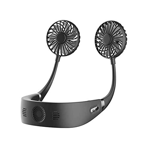 ZCZZ Ventilador portátil Ventilador de Cuello sin Manos, Ventilador de Cuello Colgante de enfriamiento, Ventilador Personal Mini USB Ventilador Deportivo portátil, 3 velocidades, Muy Adecuado par