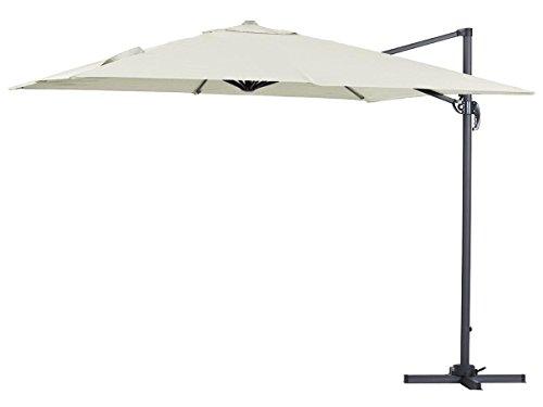 Viva Green 68258Sun 3x 2.5m Quadrato Cantilever ombrellone da Giardino in Alluminio Ecru