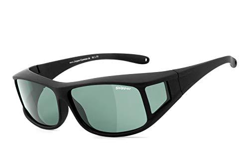 Skipper® | Überziehbrille, Überbrille (POLARISIEREND) - für Brillenträger | Polbrille, Sonnenbrille | UV400 Schutz | Brille: 2195