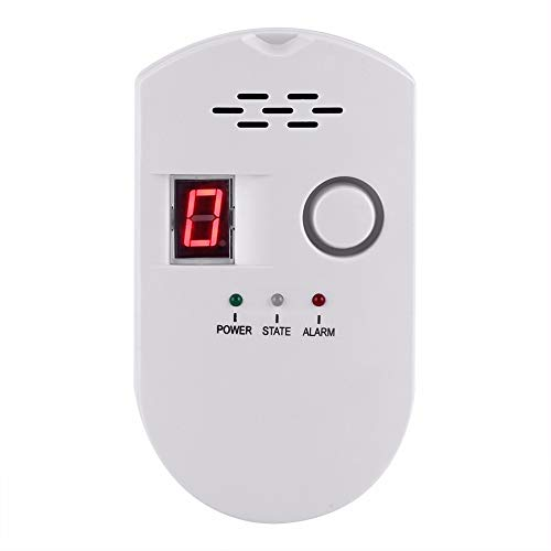Fotiluck Gas Detector, LPG/Natural/Coal Combination Gas Detector, Plug-in Gas Leak Detector with Sound Warning and LED Display - Best for Home Kitchen Restaurant Hotel School Warehouse