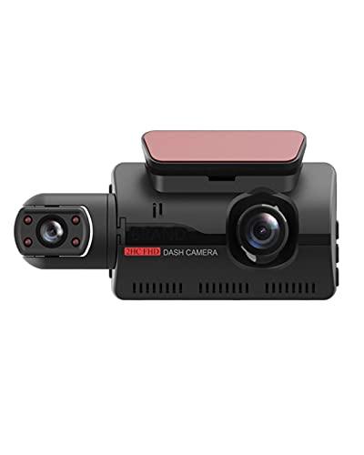 ACD Cámara DVR para Coche Dash CAM Grabador de Video Oculto de Doble grabación 1080P Visión Nocturna Monitoreo de estacionamiento Sensor G(Color:a,Size:32G)