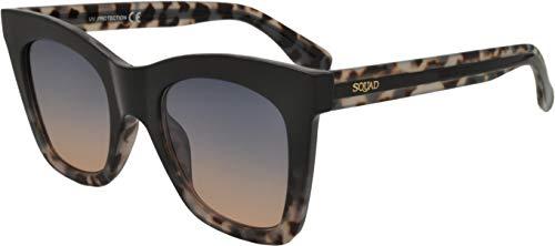 SQUAD Gafas de sol Mujer Cuadradas Clásico Moda estilo casual Havana elegante protección UV400