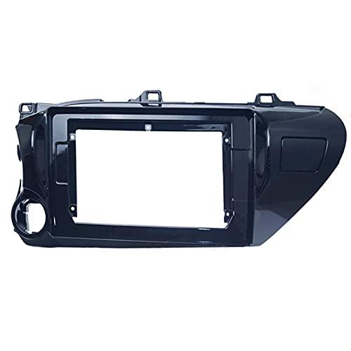 JzyhNzd para Toyota Hilux 2018, Radio de Audio para automóvil de 10,1 Pulgadas, 2 DIN, Adaptador de Marco de Fascia (LHD), Reproductor de CD/DVD, Panel estéreo, embellecedor de Tablero