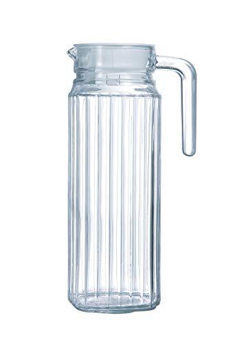 Luminarc ARC 70361 Quadro Krug, Kühlschrankkrug mit Deckel, 1.1 Liter, Glas, transparent, 1 Stück