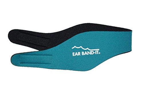 Ear Band-It Diadema Schwimmen (erfunden von einem Arzt) behält Wasser, vorbehaltlich die Stecker Ohren (sicher) die Stecker Ohren Mittel (4-9) Teal