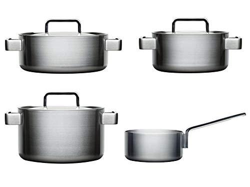 Iittala Pfannen 4er Tools Pfannen-4er Set, Edelstahl, Silber, 30 cm, 4