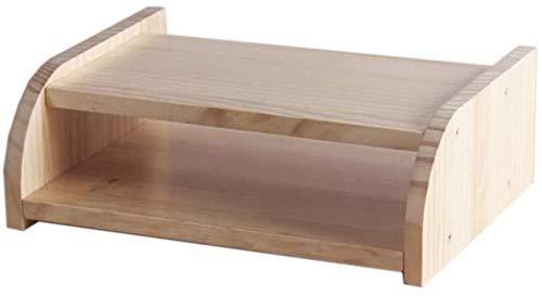 Cajas de almacenamiento del enrutador WiFi, estante flotante de montaje en pared, TV conjuntos de top de caja, perchero de almacenamiento de madera, capa única / doble capa (color: barniz de una sola
