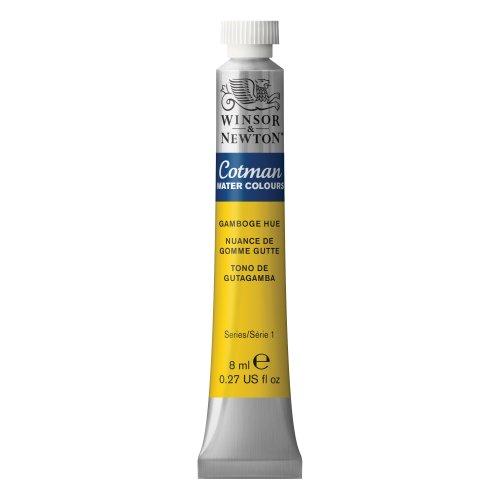 Winsor & Newton , Gamboge Hue Cotman Water Colour Paint, 8ml tube, 8-ml