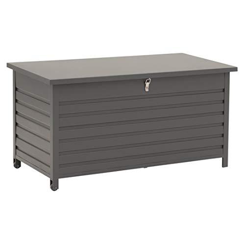 OUTLIV. Kissenbox Garten Gartenpolster Auflagen Box pulverbeschichtetes Aluminium 138x72x75 cm mit Soft-Close Polsterbox Outdoor Terrasse Balkon