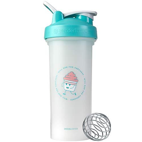 BlenderBottle Just For Fun Classic V2 Shaker Bottle, 28-Ounce, Will Run For Cupcakes