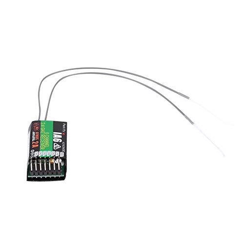 EVTSCAN Receptor de Control Remoto de 2.4G y 6 Canales con Antena Doble para FS-I6 y Accesorio de Control Remoto