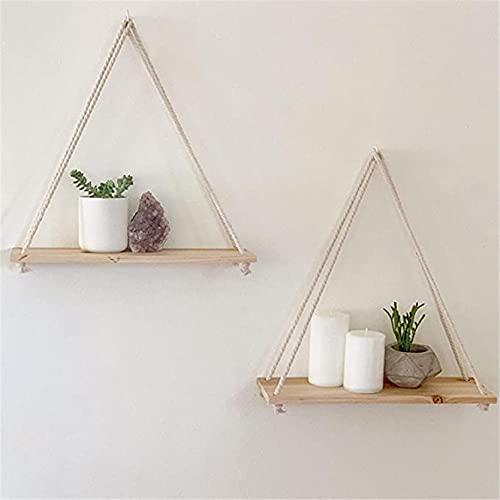 Soporte de madera para colgar en la pared, estantes flotantes, macetero, sala de estar, dormitorio y otras decoraciones de pared.