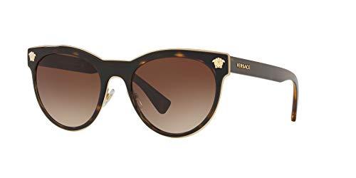 Versace 0VE2198 Gafas de sol, Dark Havana, 54 para Mujer