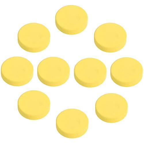 FBSHOP(TM) Lot de 10 Boutons de Porte Ronds carrés en Gel de silice pour Chambre d'enfant/Chambre d'enfant 40 mm