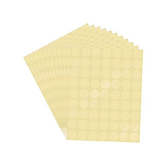 Etiquetas Adhesivas Redondas Transparentes Marca SUNSHINETEK