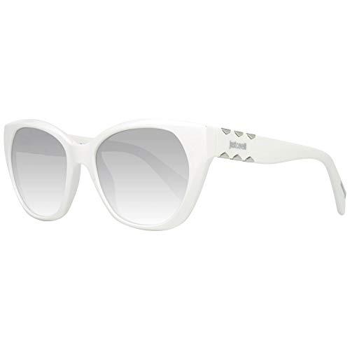 Just Cavalli JC822S 21C 53 Gafas de sol, Blanco (Bianco/Fumo Specchiato), Unisex Adulto