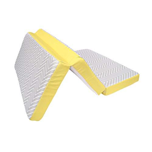Clevamama Atmungsaktives, ClevaFoam, Grau/Gelb, 65x95x7 cm