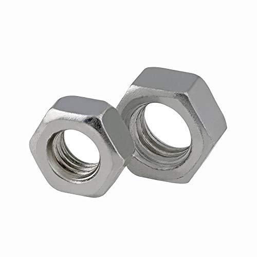 HEX NUTS METRIC M2 M2.5 M3 M3.5 M4 M5 M6 M8 M10 M10 Blanco Cincillo de acero al carbono chapado en zinc Tuerca de tornillo YUAN CHUANG (Size : M2.5(200pcs))
