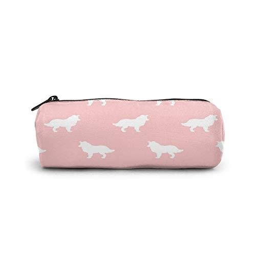Border Collie - Edredón para mascotas, diseño de coordenadas, con cremallera, para estudiantes, cosméticos, bolsa de viaje, bolsa de maquillaje
