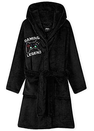 CityComfort Boys Dressing Gown, Gaming Fleece Dressing Gown For Kids 7-14...