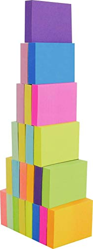 4A Sticky Notes,1 1/2 x 2 Inches,Small Size,The Adhesive On Shorter Side,Neon Assorted,Self-Stick Notes,100 Sheets/Pad,24 Pads/Box,4A 301x24