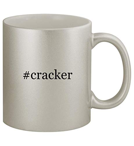 #cracker - 11oz Silver Coffee Mug Cup