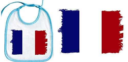 MERCHANDMANIA BLEU BAVOIR BÉBÉ FRANCE FLAG mom milk