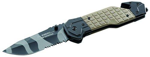 Herbertz TOP-Collection Messer Rettungsmesser Camo Länge geöffnet: 22.3cm, Grau, M