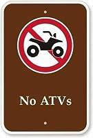 注意サイン-バギーなし。 通行の危険性屋外防水および防錆金属錫サイン