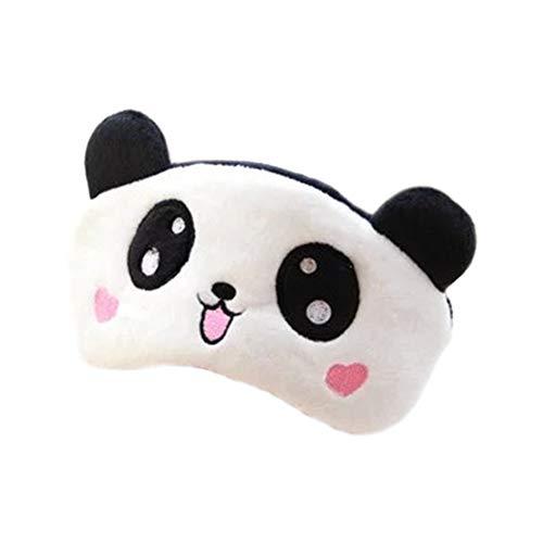 Hosaire Maschere Sonno Maschera degli Occhi Relax Mignon Motif di Panda d' Amore Opaco Maschera Copri Occhi per Dormire per Viaggio o in Occasione dei siestes l' Après-Midi 11* 18.5CM