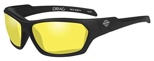 HARLEY-DAVIDSON Wiley X Drag Yellow Motorrad Brille