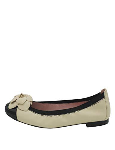 Pretty Ballerinas Damen Shirley Ballerinas Beige, Elfenbein - Shade Black/Coton Talis - Größe: 40 EU