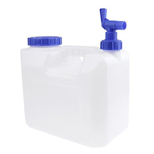 Homyl Récipient en Plastique de l'eau Bouteille Pliante de l'eau 15L Blanc