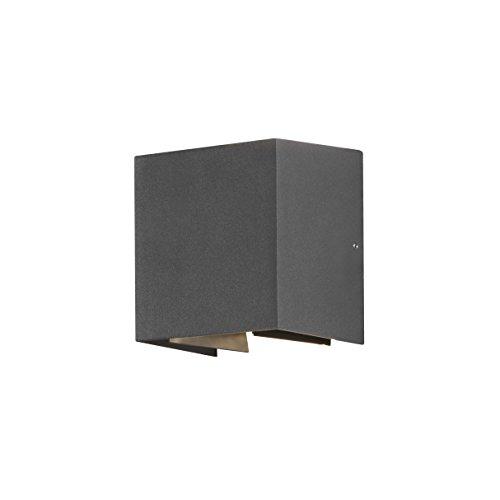 Gnosjö Konstsmide 7959-370 A Außenwandleuchten, Aluminium, anthrazit, 11 x 13 x 13.5 cm