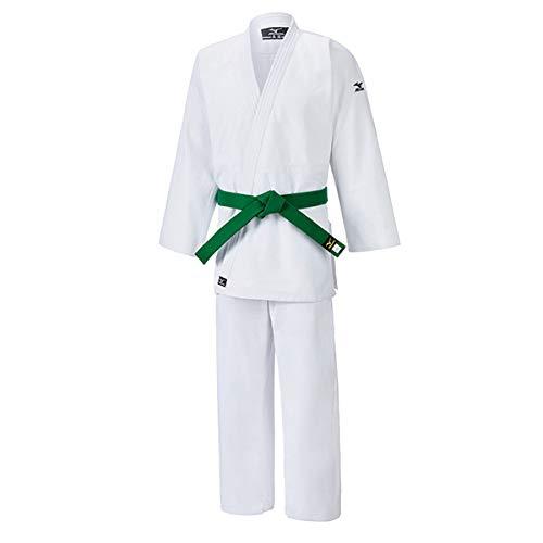 Mizuno Judogi cortavientos 100% algodón blanco 550gr, Bianco / White