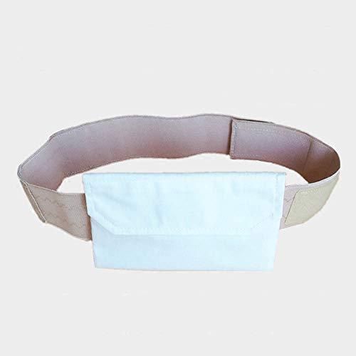 Abdominal Dialysis Protection Belt, Breathable Abdominal Tube Storage Belt, Cotton Adjustable Elastic, Incontinence & Ostomy,XL/Waist43.3~49.2in