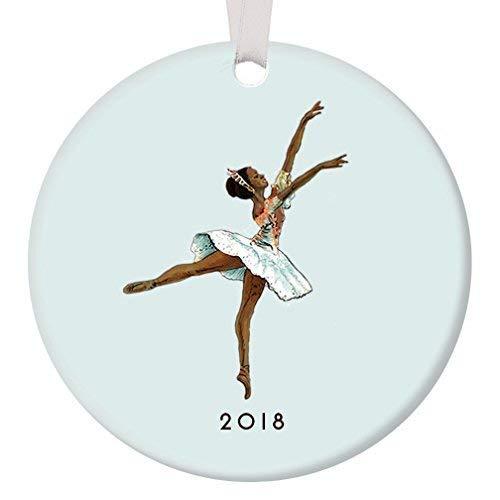 Cukudy donkere huid Ballerina Ornament 2018 Zwarte Notenkraker Ballet Suikerpruim Fee Ballet Ornament Afro-Amerikaanse Ballerina Kerstmis Ornament Vakantie Kerstmis Boom Decoratie Bruiloft