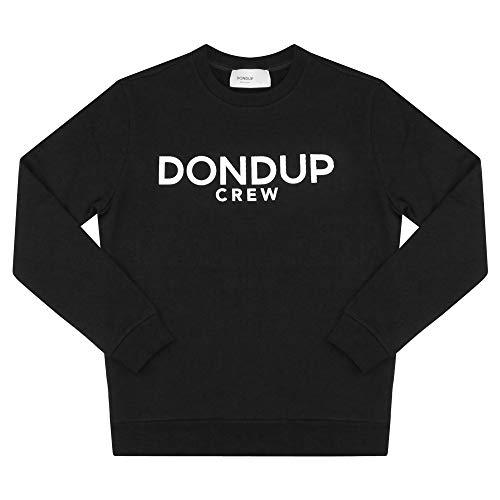 DONDUP Felpa uomo in Cotone nera con Logo UF617KF0136 Nero M