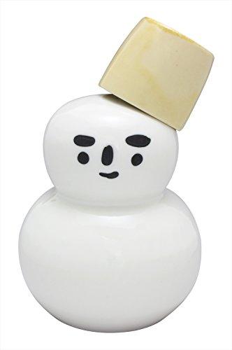 かじゅあるらいふ 徳利 白・茶 セット 美濃焼 雪だるま 酒器 (茶バケツ盃) K12328 2点入