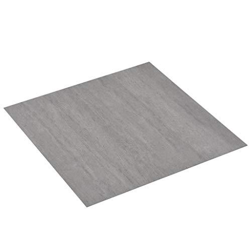 vidaXL PVC Laminat Dielen Selbstklebend Rutschfest Wasserfest Vinylboden Bodenbelag Designboden Vinyl Boden Dielen Planken 5,11m² Grau Gepunktet