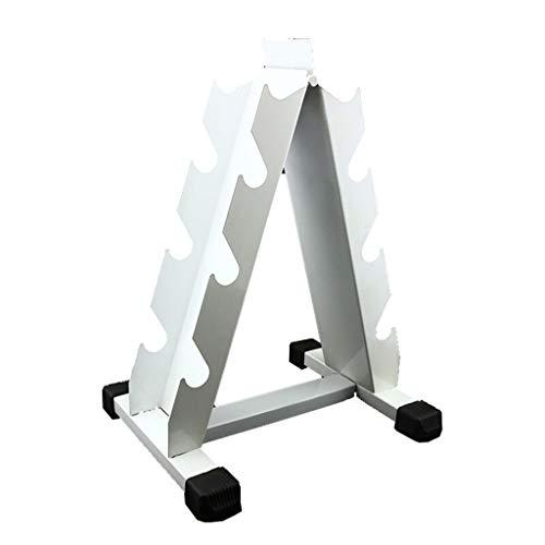 Mancuernas Estante Blanco Vertical Estante Metal Estante De Almacenamiento De Acero para Gimnasio En (no Incluye Musculación