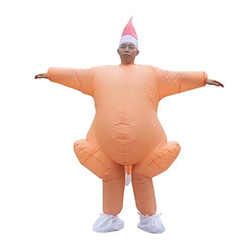 LouisaYork Disfraz de pavo para adulto, disfraz inflable de Navidad, disfraz de Accin de Gracias con sombrero para festival, Navidad, fiesta de Accin de Gracias