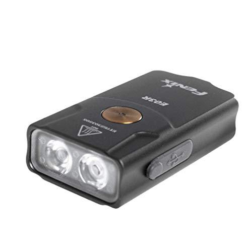 fenix E03R Wiederaufladbare Schlüsselanhänger Taschenlampe, Grau