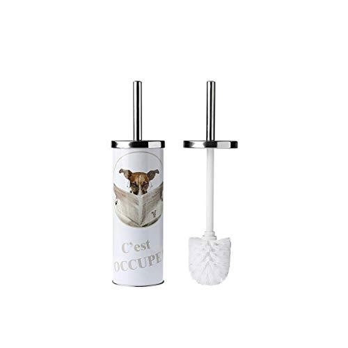 Guuisad Inicio Cepillo de inodoro, Conjunto de soporte de cepillo de inodoro Conjunto de cepillo de inodoro de acero inoxidable Cepillo de inodoro Cepillo de inodoro creativo Cepillo de inodoro Cepill