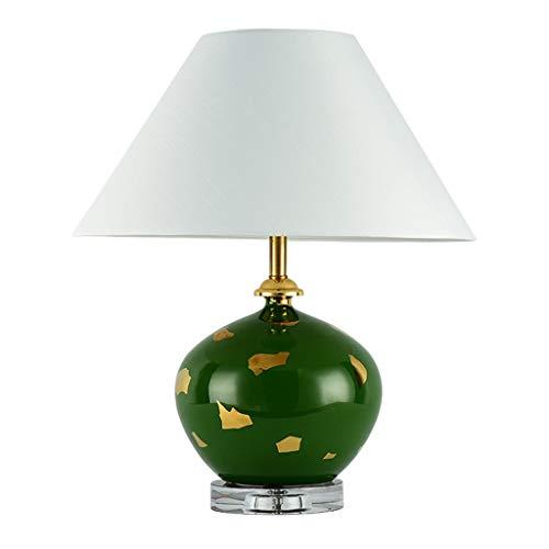 YI0877CHANG Lamparilla de Noche Iluminación de Interior Dormitorio lámpara de Mesa de Noche de la lámpara de cerámica de la Sala de Estudio lámpara de Mesa Lámpara Mesilla (Color : A)