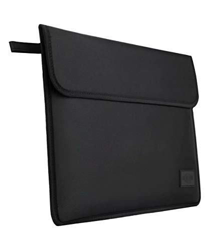MONOJOY Faraday Bags for 13 Inch Laptop and Tablet Blocking Signal RFID NFC WiFi 4G GPS Bluetooth Microfiber Black Sleeve Case Compatible with 13'' MacBook and Surface